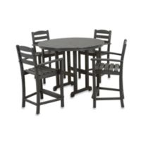 POLYWOOD® La Casa 5-Piece Outdoor Counter Height Table Set in Grey
