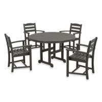 POLYWOOD® La Casa 5-Piece Outdoor Dining Table Set in Slate Grey