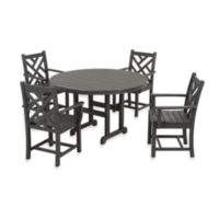 POLYWOOD® Chippendale 5-Piece Outdoor Dining Set in Slate Grey