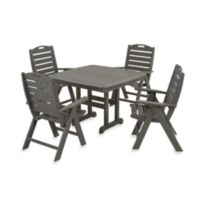 POLYWOOD® Nautical 5-Piece Outdoor Dining Set in Grey