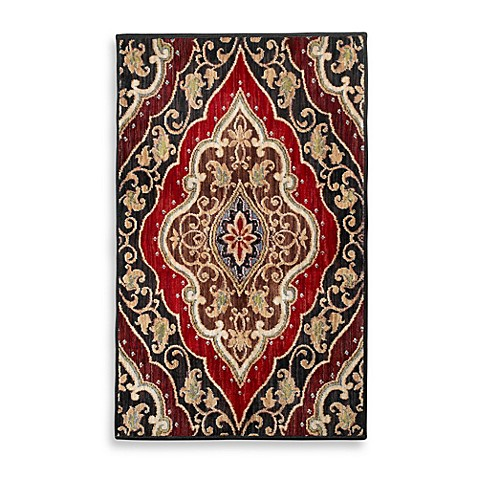 Shaw mirabella andora red area rug bed bath beyond - Shaw rugs discontinued ...