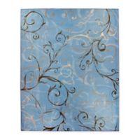 RUGGABLE® Ironworks Swirls 8' x 10' Indoor/Outdoor Area Rug in Slate Blue