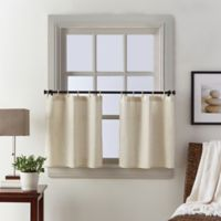 Seattle 24-Inch Window Curtain Tier Pair in Natural