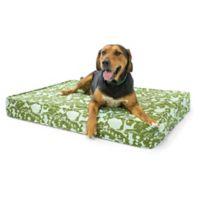 eLuxurySupply® Large Gel Memory Foam Orthopedic Dog Bed in Dark Green