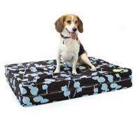 eLuxurySupply® Medium Gel Memory Foam Orthopedic Dog Bed in Brown/Blue