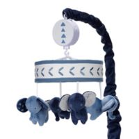 Lambs & Ivy® Indigo Elephant Musical Mobile in Blue/White