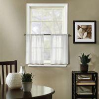 Linden 36-Inch Kitchen Curtain Tier Pair in White