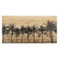 "Empire Art Direct ""Solitary Beach"" Wood Wall Art in Black"