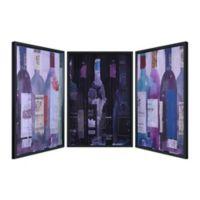 "Empire Art Direct 3-Piece ""5 O'Clock"" Multicolor Shadow Box Wall Art"