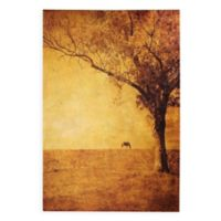 """Empire Art Direct """"Solitary Field"""" Canvas Wall Art in Gold"""