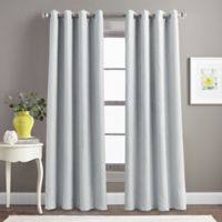 Morela Solid 84-Inch Grommet Window Curtain Panel in Grey
