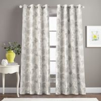 Morela Print 84-Inch Grommet Window Curtain Panel in Ivory