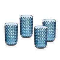 Godinger Alba Highball Glasses in Blue (Set of 4)