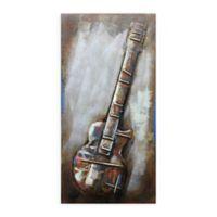 Guitar 24-Inch x 48-Inch Metal Wall Art