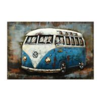 Blue Bus 3D 32-Inch x 48-Inch Metal Wall Art