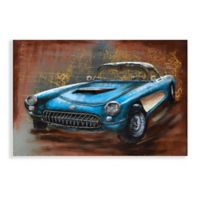 Empire Art Direct 3D Iron Blue Car Metal Wall Art