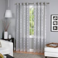 Latique Grommet 95-Inch Sheer Window Curtain Panel in Grey