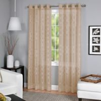 Latique Grommet 84-Inch Sheer Window Curtain Panel in Taupe