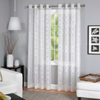 Latique Grommet 84-Inch Sheer Window Curtain Panel in White