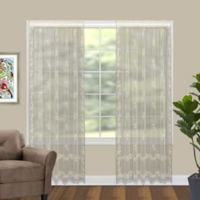 Divine 63-Inch Sheer Floral Window Curtain Panel in Ecru