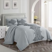 Nanshing Essex Queen Duvet Cover Set in Grey