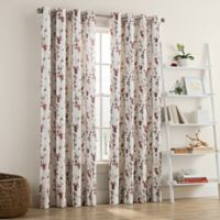Priella 84-Inch Grommet Window Curtain Panel in Berry