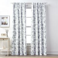 Lanai 84-Inch Rod Pocket/Back Tab 100% Blackout Window Curtain Panel in Charcoal