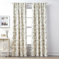 Lanai 63-Inch Rod Pocket/Back Tab 100% Blackout Window Curtain Panel in Linen