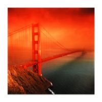 "Empire Art Direct ""Golden Gate"" Glass Wall Art in Orange"