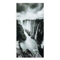 "Empire Art Direct ""The Falls"" Glass Wall Art in Black/White"