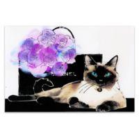Lilac Bouquet 16-Inch x 24-Inch Glass Wall Art