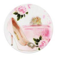 Pretty Pink 20-Inch Round Glass Wall Art
