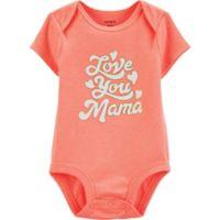 "carter's® Newborn ""Love Nana"" Short Sleeve Bodysuit in Coral"
