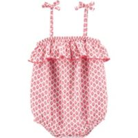 OshKosh B'gosh® Size 12M Ruffled Floral Romper in Pink