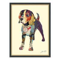 Beagle I 25-Inch x 33-Inch Framed Wall Art
