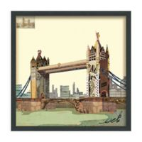 London Bridge 25-Inch Square Framed Wall Art