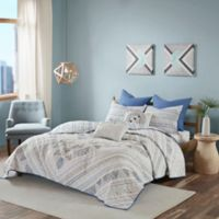 Urban Habitat Rochelle Reversible Full/Queen Coverlet Set in Blue