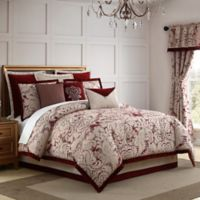 Veratex Allouette King Comforter Set in Red