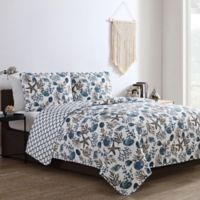 VCNY Home Antigua Reversible 3-Piece Full/Queen Quilt Set in Blue