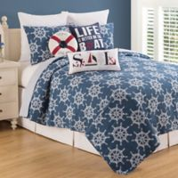 C&F Home™ Maritime Reversible Twin Quilt Set in Blue