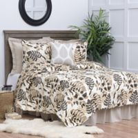 C&F Home Silhouette Palm Reversible Twin Quilt Set in Brown