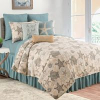 C & F Home Amber Sands Reversible Twin Quilt Set in Tan