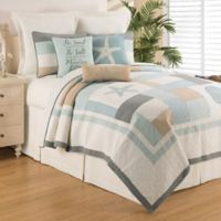 C&F Home™ Driftwood Shores Reversible King Quilt Set in Blue