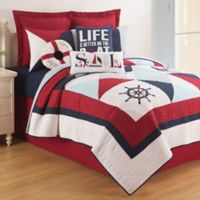 C & F Home Waterborne 3-Piece King Quilt Set in Red