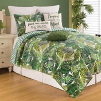C&F Home™ Layla Reversible King Quilt Set in Green