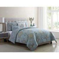 VCNY Home Riya Queen Comforter Set in Light Blue
