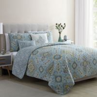 VCNY Home Riya Queen Quilt Set in Light Blue