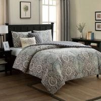 VCNY Home Valencia Reversible Full/Queen Comforter Set in Blue