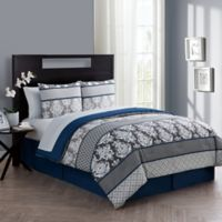 VCNY Home Beckham Twin Comforter Set in Blue