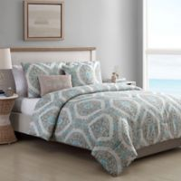 VCNY Home Sea Reversible King Comforter Set in Taupe